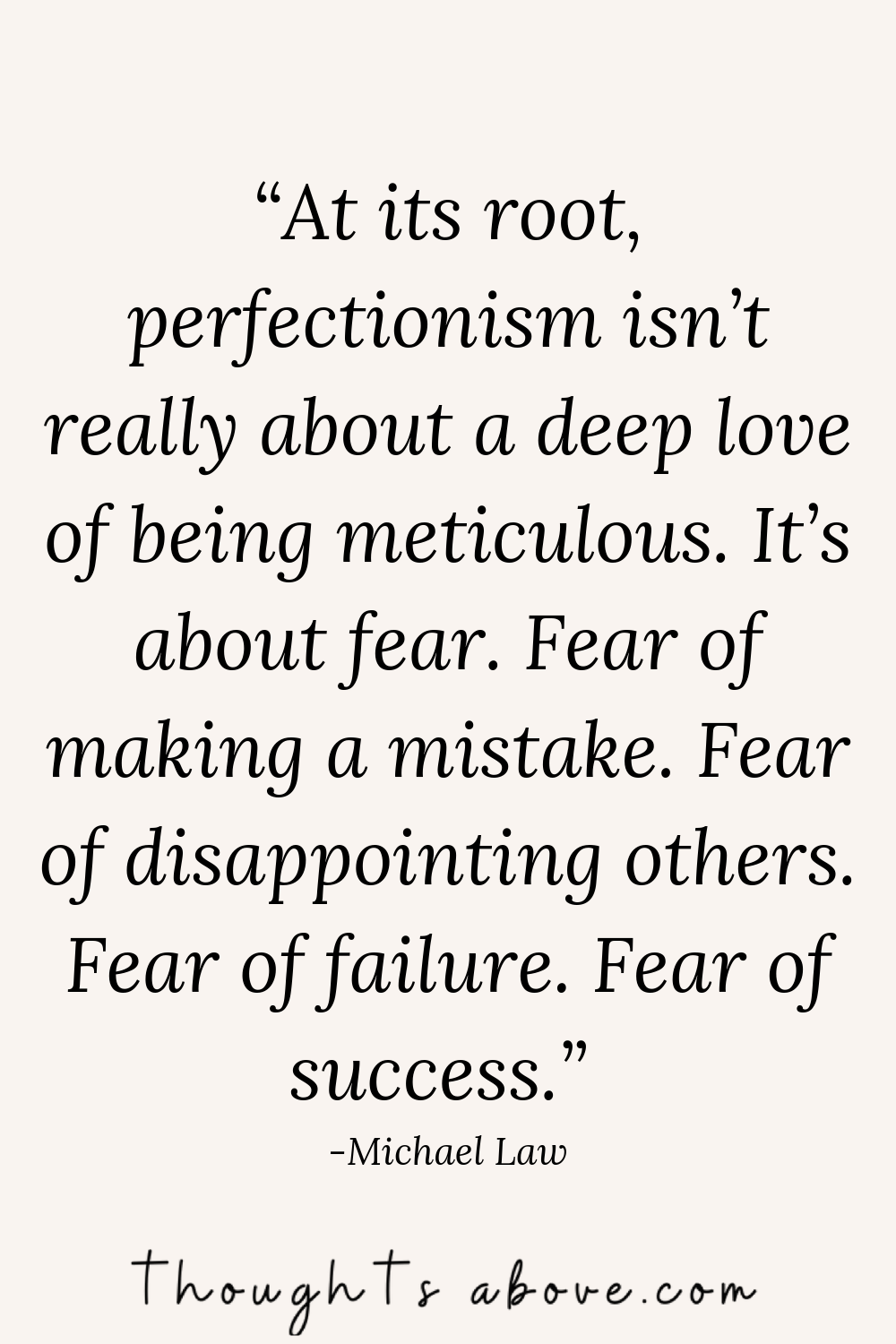 overcoming perfection quotes
