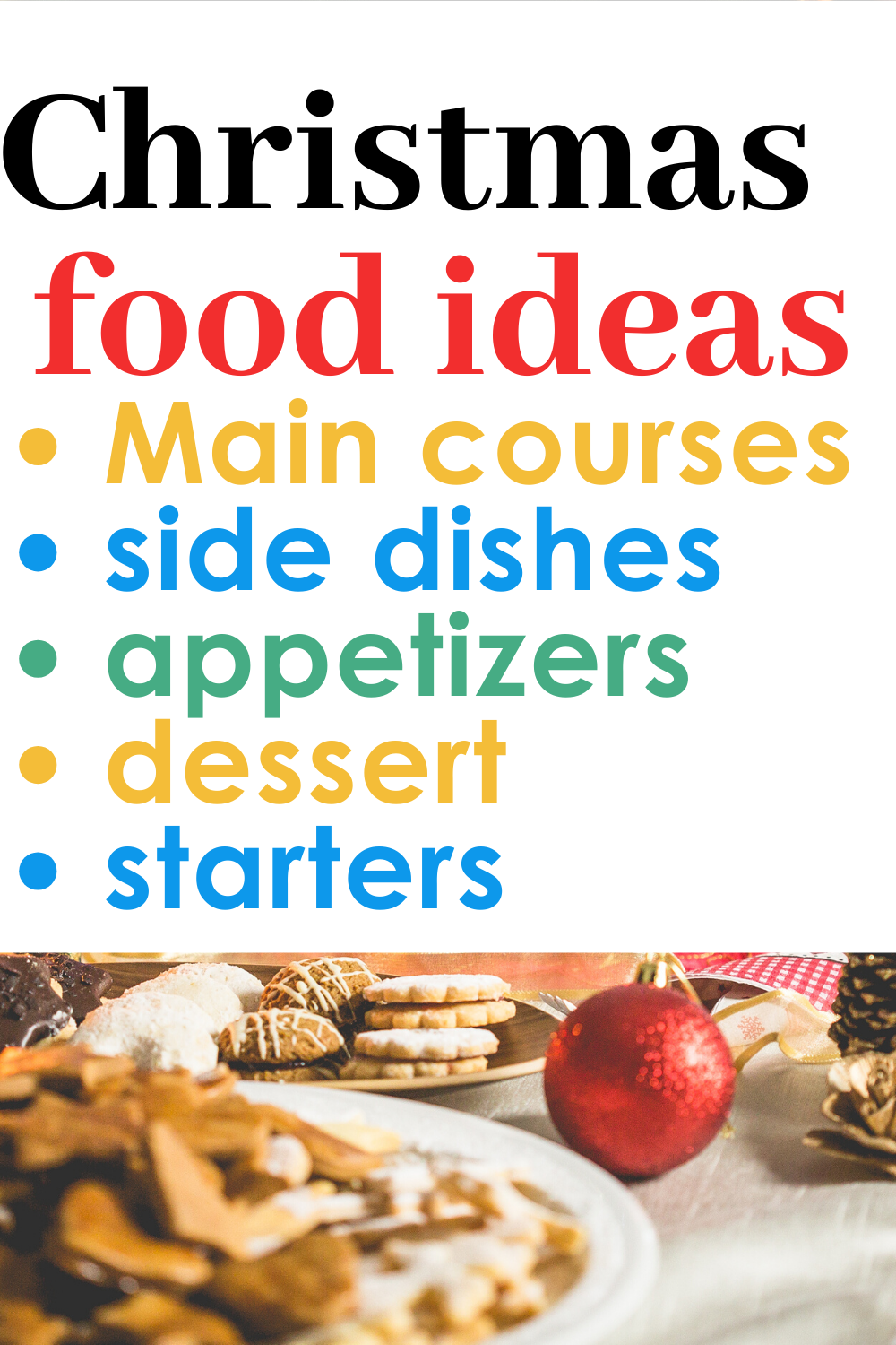 Here is a list of best Christmas food ideas recipes for dinner, dessert, treats and party, appetizers, side dishes, the main course, then you can prepare this Christmas holiday. Christmas breakfast #food #holiday ##Christmas #Holiday #Xmas #Gifts #Christmasgifts #giftguide #giftideas #holidays #recipes