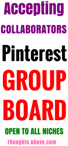 Pinterest group board
