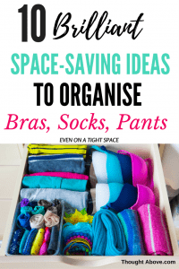 This post is incredible it has so much information on bra storage ideas, socks storage, underwear organization drawer.   So if you want to know how to organize your bra even with a tight space then check this post. #oraganisationideas #lingerie organization #brastorage
