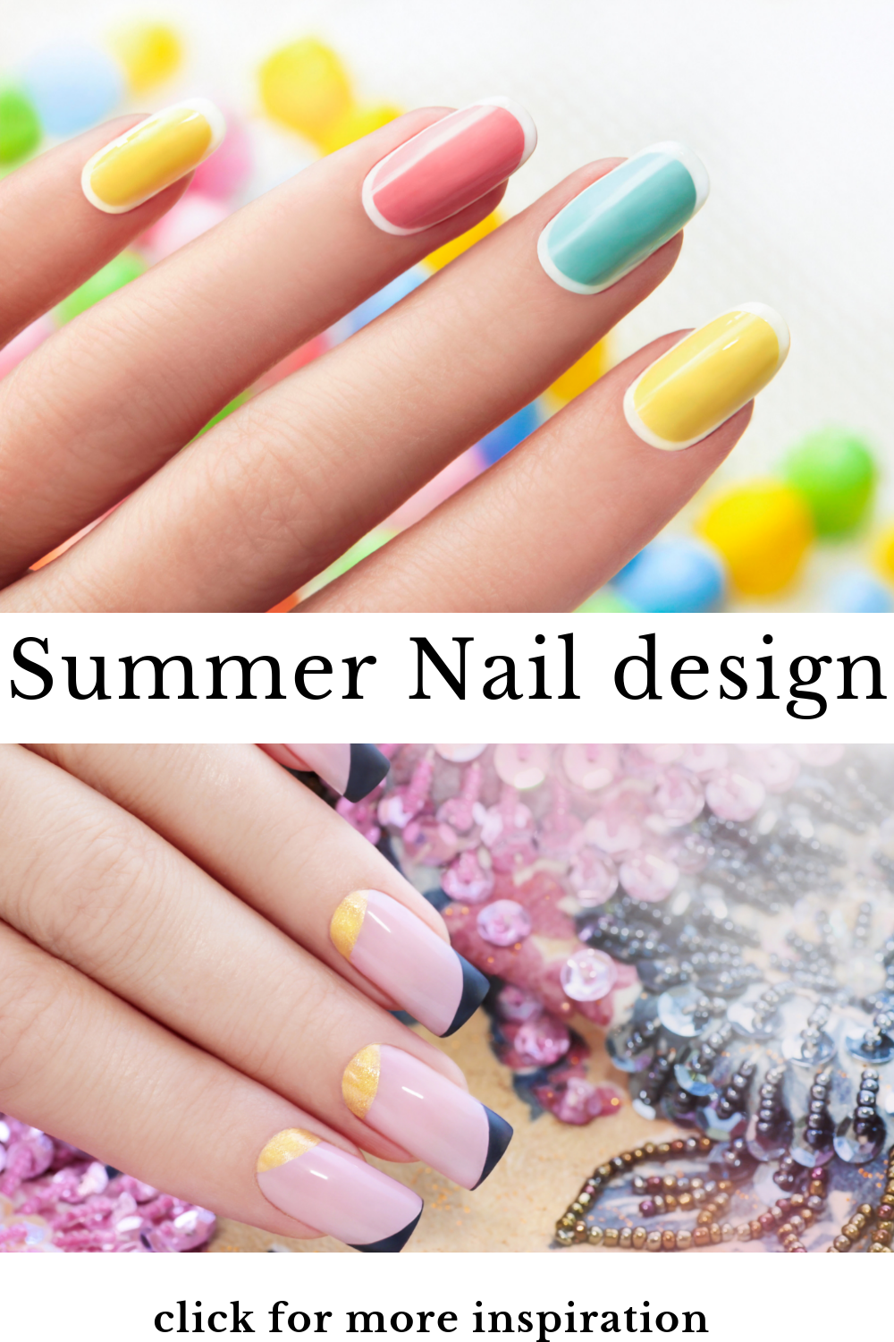 Wondering how to make your nails look gorgeous this summer? Check this post for summer nail colour either you prefer shellac or acrylic this simple bright, cute summer nail glitters. We got you covered. my favorite is #4 simply brings out the best in me. #nails #nailtutorials #beauty #chic #makeup #bossbabe / summer nail colour /beauty hacks