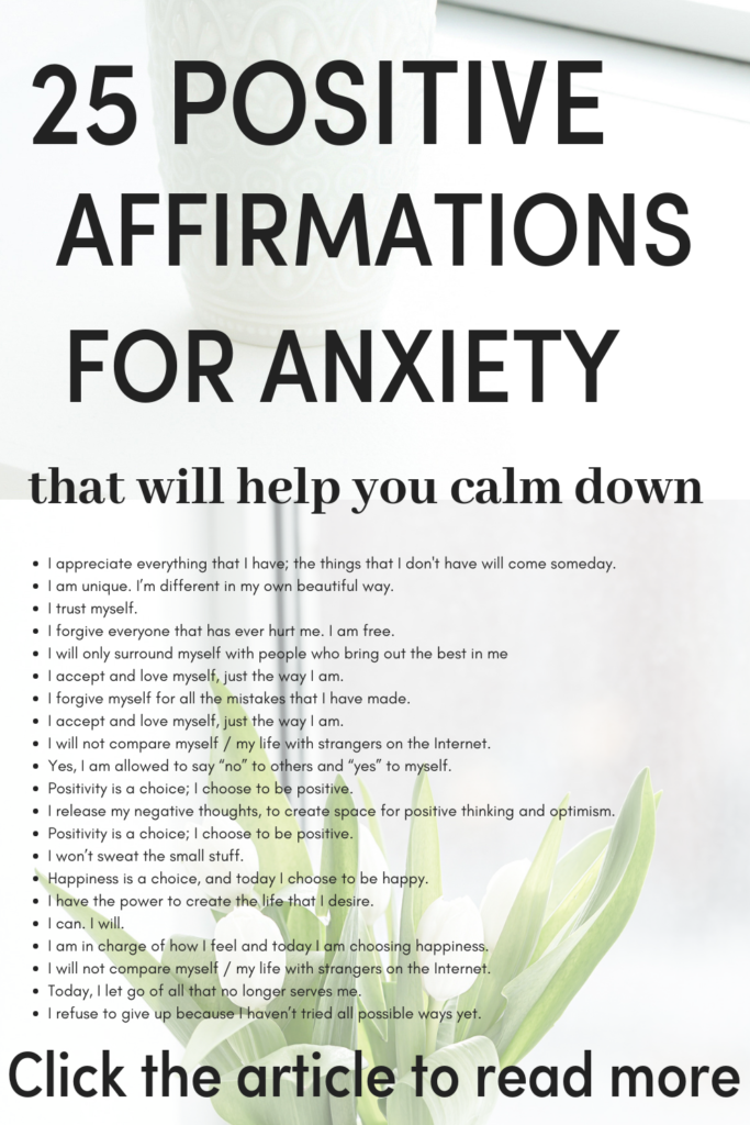 If you struggle with anxiety, Panic attacks, social anxiety, and want to understand a natural way remedies on How to get rid of (anxiety) or to overcome it. Then save then click this pin to read positive affirmations Positive affirmations for anxiety that will help you calm down quickly if you want quick relief. #mentalhealth #anxiety #quotes