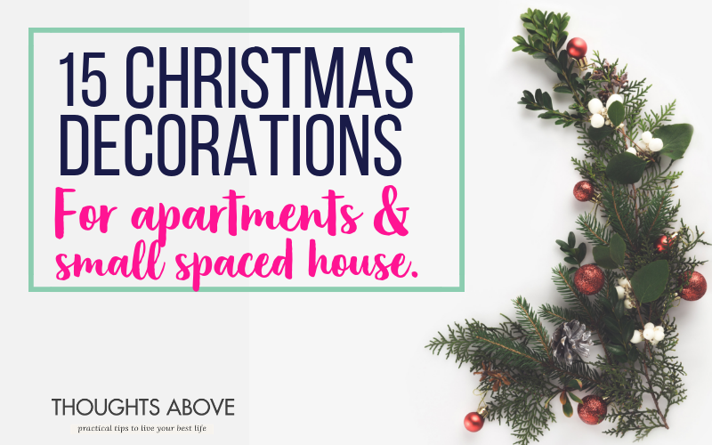 15 Christmas decorations apartment small spaces