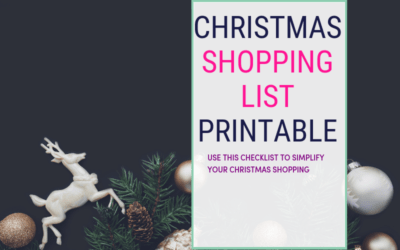 Shopping for Christmas can be, overwhelming. And it's easy to forget some of the holiday shopping. That's why I've compiled a free Christmas shopping list printable so you can spend less time shopping. Some of the items included are Grocery list, food and Christmas decorations and all the holiday gifts ideas. Click the post to download the Christmas shopping list printable. #freeprintable #christmasshopping ##Christmasgifts #holidays