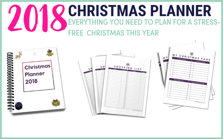 Longing for once to have a less overwhelming Christmas with less stress but rather a calm? The 2018 Christmas planner is filled with resources that will simplify and organise your Christmas plan. Some of the holiday planner printables include Christmas shopping list planner, gift list printable, menu planner, and so much more. #printables #holidayplannerprintables #christmasprintable #giftlist#Christmas planner #holidayplanner#holidayorganizer